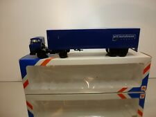 LION CAR DAF 2100 TRUCK + TRAILER - PTT AUTOLEASE - BLUE 1:50 - GOOD IN BOX