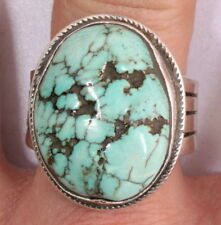 Southwestern Sterling Silver Turquoise Ring Size 13 1130D-12