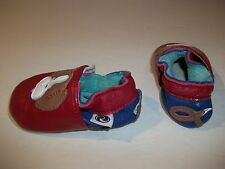 Roper Shoes Baby Unisex Boy's Girl's Leather Soft Sole Dog Size S 0-6 Months