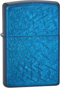 Zippo Lighter Classic Lightning Blue Iced Diamond Plate Sealed