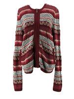 Ann Taylor Loft Women's Knitted Zip Down Long Sleeve Sweater Size Large