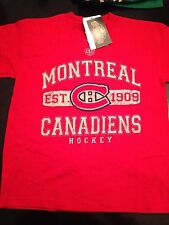 Montreal Canadiens NEW Youth Large Cleric T-Shirt by Old Time Hockey . NHL Kids