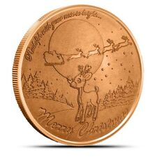 Rudolph The Red Nosed Reindeer 1 oz .999 Copper BU Round Christmas Bullion Coin