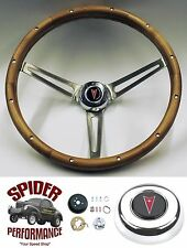 "1967-1968 LeMans Catalina Bonneville steering wheel 15"" MUSCLE CAR WALNUT"