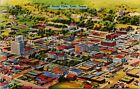 Aerial View Tyler Texas TX UNP Linen Vtg Postcard