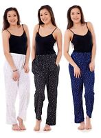 Ladies Women Trouser Elasticated Summer Polka Print Pocket Casual Pants M to 3XL