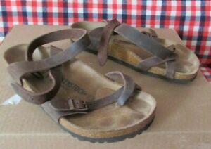 Women's BIRKENSTOCK Brown Sandals Wedge Size 8