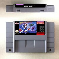 Mega Man X Game Card Console US Version For Nintendo SNES 16 Bit English
