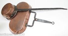 Ancien lèchefrite et louche à eau en cuivre XVIIIe? Dripping-Pan copper