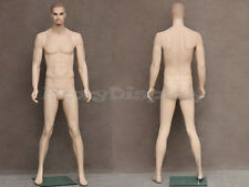 Male Fiberglass Realistic Mannequin with Molded Hair Dress From Display #MZ-WEN8