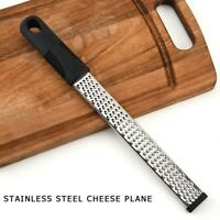 Stainless Steel Cheese Grater Zester Ginger Lemon Shredder Hand Held Flat Tool.