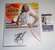 Nastia Liukin Signed 8.5X11 PHOTO JSA CERT USA Olympics GOLD MEDALIST