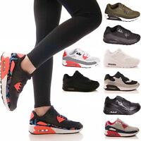 LADIES WOMENS TRAINERS GYM FITNESS P.E RUNNING JOGGING LACE UP SHOES SIZE 3-8