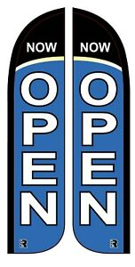YES WE/'RE OPEN Advertising Flag Banner Sign 3x5 ft Business Store Blue