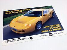 1999 Hommell Berlinette RS Information Sheet Brochure - French