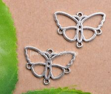 20pcs Tibetan Silver Charm Butterfly Earring Connectors 18X24mm Jewelry Making