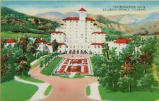Exterior Front Air View Broadmoor Hotel Colorado Springs CO Postcard B6
