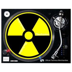 Slipmat Technics Radioactive schwarz gelb 1 Stück 0020104628-1
