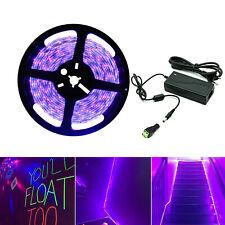 UV Schwarzlicht LED Streifen SMD 5050/2835 Leiste Lichterkette Strip IP20 5m