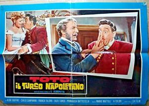 R@RIT@'LOCANDINA FILM 46 X 67-ANNI 50-TOTO', IL TURCO NAPOLETANO -RIF.N.32