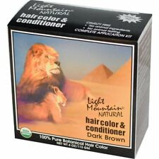 Light Mountain Certified Organic Henna Hair Color & Conditioner Dark Brown 113 g