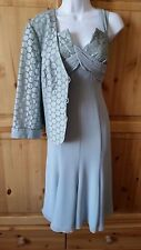 FRANK USHER RRP £425 MOTHER OF THE BRIDE DRESS JACKET OUTFIT SUIT SIZE 12 BNWT