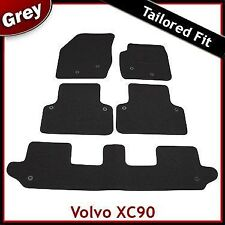 Volvo XC90 Mk1 2002-2015 7-Seater Fully Tailored Fitted Carpet Car Mats GREY