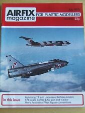 AIRFIX MAGAZINE JUL 1975 LIGHTNING T4 JAPANESE BUFFALO MODEL BOFORS LAA GUN TRAC
