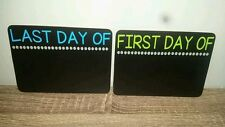 1st day of school / last day of school chalkboard, photo prop, reusable