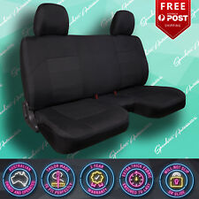 FITS NISSAN NAVARA 2013- CURRENT (D22) DX 2DR CAB CHASSIS BLACK CAR SEAT COVERS