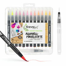 Krevo Art® Pinselstifte Brush Pen Set 24+2 Handlettering Stifte mit Pinselspitze