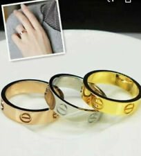 Real Stainless Steel Love Screw Ring 4mm Perfect Gift, Best Seller