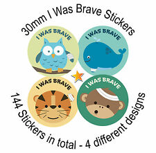 I've Was Brave - 144 30mm reward stickers - for Children, Doctors, Nurses