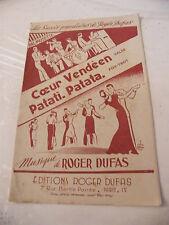 Partition Coeur Vendéen Patati Patata Roger Dufas 1950