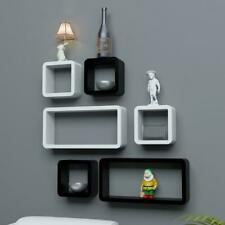 Handclap  Floating Wall Shelves Shelf Display Decor Storage- Set of 6