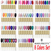 BORN PRETTY 8 Colors Gel Nail Polish Set Soak Off UV LED Nail Art Kits Gifts 6ML