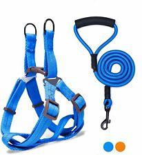 Adjustable Dog Pet Vest Harness+Leash Rope Nylon Walking Training Puppy Strap S