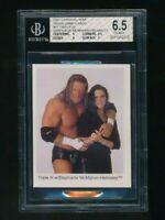 2001 Cardinal WWE WWF Stephanie McMahon Triple H BGS 6.5