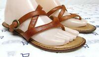 Born Crown women's size 7 M brown leather sandals slides