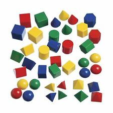 Edx Education Mini Geometric Solids - In Home Learning Toy for Early Math & G.