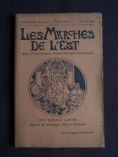 Les marches de l'Est - N°11 1911-1912