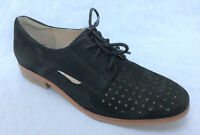BNIB Clarks Ladies Hotel Molly Black Suede Lace Up Shoes