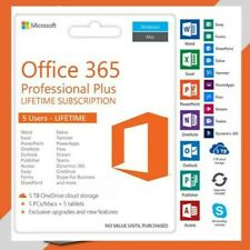 MICROSOFT OFFICE 365 PROFESSIONAL PLUS   5 DEVICES FOR WINDOWS AND MAC