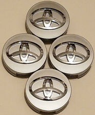 4x TOYOTA WHEEL RIMS CENTER HUB CAP CAPS SILVER BASE CHROME LOGO 62MM CAMRY +MOR