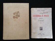 L. Tolstoi, Guerra e pace vol.1-1932 - M. Mitchell, Via col vento Mondadori 1948