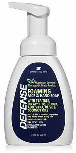 DEFENSE Soap Foaming Face & Hand soap 7.5 Oz w/ Tea Tree Eucalyptus Aloe Vera
