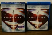 MAN OF STEEL with SLIP COVER + BLU-RAY + DIGITAL HD *