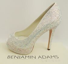 Benjamin Adams Tyra Crystal Heels Wedding Bridal Sandals UK5 EU38