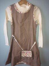 Jean Bourget Fall Plaid Floral w/Purse Jumper Dress Sz 6/114