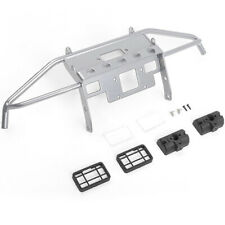 RC4WD VVV-C0929 Guardian Steel Front Winch Bumper Silver w/ Lights : SCX10 II